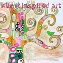 Gustav Klimt Inspired Art - Students will use mixed media to experience and learn the techniques and visual voice of the artist Gustav Klimt. Klimt Art, Gustav Klimt, Craft Projects For Kids, Art Projects, Project Ideas, Faber Castell, Art Lesson Plans, Art Music, Art Education