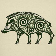 Tattoo idea for shoulderblade #boarhuntingart