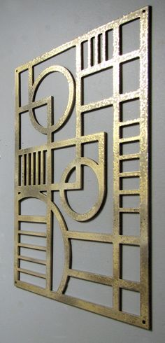 Art Deco Modern Aluminum Sculpture 12 X 17 Available in 25 colors. $89.00, via Etsy.