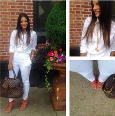 Glency feliz white outfit