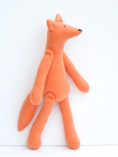 Fox plush stuffed #fox #toy #orange #softie #plush #gift #kids by #HappyDollsByLesya