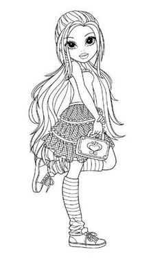 Printable New Moxie Girlz Coloring Pages. Top quality free printable coloring, drawing, painting pages (pdf) here for boys, girls, children . Online Coloring Pages, Cute Coloring Pages, Coloring Pages For Girls, Coloring Pages To Print, Coloring For Kids, Printable Coloring Pages, Coloring Books, Colorful Drawings, Colorful Pictures