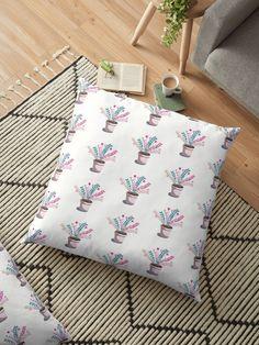 Floor Pillows, Throw Pillows, Pillow Design, Cushions, Flooring, Prints, Color, Home Decor, Homemade Home Decor