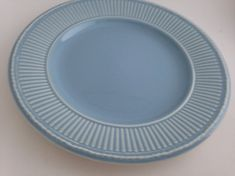 Blue Wedgewood Queensware Plate with by WhiteheadandLongley