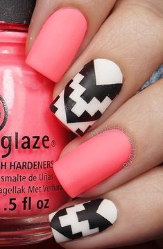 if you love Minecraft or a 2D game, this could be a great nail look. It looks like the design was pixelated.