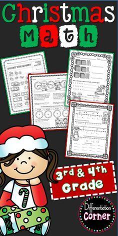 3rd Grade Classroom, Third Grade Math, Math Classroom, Special Education Organization, Special Education Math, Christmas Math Worksheets, Christmas Activites, Christmas Writing, Teaching Math