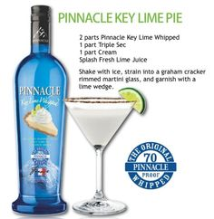 Can't EVER find Key Lime Whipped Vodka.because it is awesome and everybody loves it! Vodka Drinks, Smoothie Drinks, Fun Cocktails, Party Drinks, Cocktail Drinks, Fun Drinks, Mixed Drinks, Alcoholic Drinks, Vodka Martini