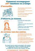 Accompagner <b>MES</b> émotions<br/>Affiche à imprimer illustré par