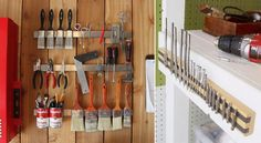 The garage is probably the most unorganized part of the house. The car is not the only thing you can find there. Sometimes the garage and storage for all Garage Velo, Garage Shed, Garage Tools, Garage House, Diy Garage, Small Garage Organization, Garage Tool Storage, Shed Storage, Tool Organization
