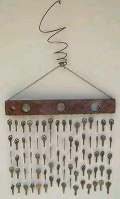 homemade wind chimes using old keys!!!