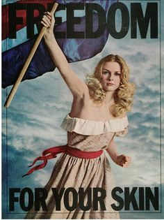 Liberty Leading the People for Yardley of London, 1970. Next to Nothing skin care ad || Musings from Marilyn - Finnfemme Blog
