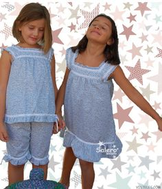 Baby Outfits, Kids Outfits, Girls Night Dress, Girls Dresses, Night Suit, Night Gown, Pyjamas, Looks Teen, Kids Pjs