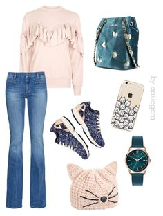 """""""Miss kitten"""" by aakiegera on Polyvore featuring мода, Topshop, M.i.h Jeans, adidas, Henry London и Karl Lagerfeld"""