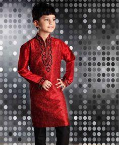 Aari Work /& Fancy Stone Button Gold Jacquard Faux Silk Kurta Pyjama Royal Blue