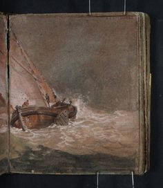 Joseph Mallord William Turner 'A Fishing Boat Running before the Wind', 1796–7
