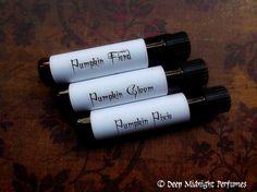 GOTHIC PUMPKIN Perfume Sampler Set  by DeepMidnightPerfumes