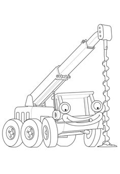 Lofty's Coloring Page – Bob the Builder Coloring Pages for Kids Printable Coloring Pages, Coloring Pages For Kids, Adult Coloring, Coloring Books, Bob The Builder, Baby Development, Printables, Entertaining, Quilts