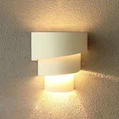 40W Indoor Wall Lamps Iron Light Fixtures White Shell 85-220V