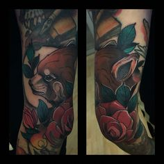 Tattoo by Marlon espitia Neotraditional  Bogotá red panda
