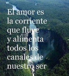 〽️ El amor es la corriente que fluye y alimenta...