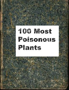 100 Most Poisonous Plants fun--print out the covers and put them on old books to make a new wizard textbook I'd put this one in my Harry Potter Hogwarts Library in the Restricted Section Harry Potter Library, Hogwarts Library, Harry Potter Decor, Harry Potter Hogwarts, Harry Potter Party Games, Name Generator, Book Themes, Fun Prints, Color Names