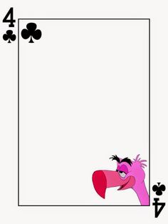 Flamingo - 4 of Clubs - Alice in Wonderland - Playing Card - Project Life Journal Card Alice In Wonderland Crafts, Alice In Wonderland Tea Party, Mad Hatter Party, Mad Hatter Tea, Project Life Cards, Disney Scrapbook, Disney Crafts, Journal Cards, Tea Party
