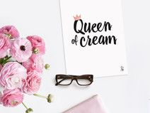 Postkarte / Queen of cream / Printable