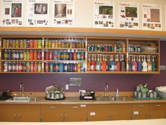 I wish I had this much cupboard space where I teach right now!