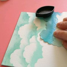 How to Make Chalk ink Clouds from Scrapbook Steals. How to Make Chalk ink Clouds from Scrapbook Steals. Art Diy, Diy Wall Art, Wall Decor, Room Decor, Craft Art, Paper Art, Paper Crafts, Diy Crafts, Diy Paper