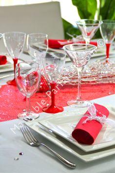 Urne pour mariage rouge et blanche avec orchidée : Autres ...