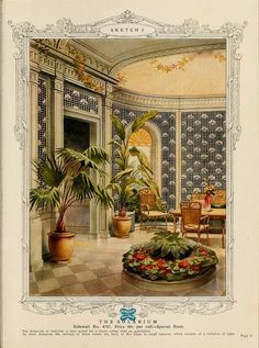 The Solarium :: Home decoration, 1917 / Alfred Peats Co.
