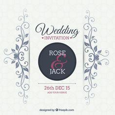 Convite de casamento Ornamental Vetor grátis