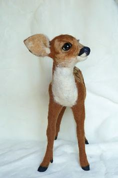 Sweet little felted deer by Pip's Poppies.