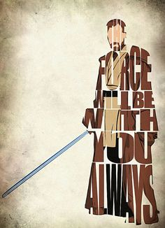 ObiWan Kenobi Inspired Print   Star Wars Movie by GeekMyWalL