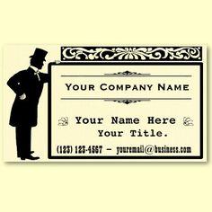 Vintage Victorian gentleman business cards :)