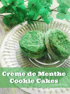 Crème de Menthe Cookie Cakes - St. Patrick's Day Cookies