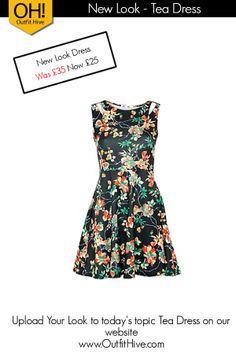 New Look Tea Dress #SpecialOffer £10 Off To Buy this New Look Tea Dress Go To:  http://tidd.ly/5e706591  Upload Your Look to our topic #TeaDress on Outfit Hive.  www.OutfitHive.com