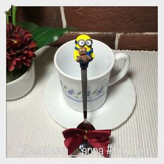 Боб на чайной ложечке для @feya_lena , умницы и рукодельницы, тоже едет в столицу нашу! #миньон #миньоны #гадкийя #мультики