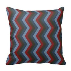 Geometric ZigZag Throw Pillow Bright School Colors