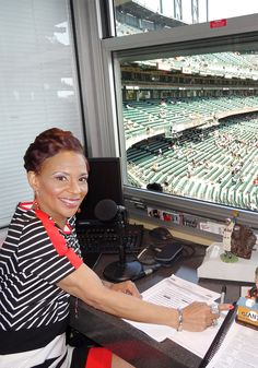 As baseball's only female announcer, Renel Brooks-Moon scores big with San Francisco Giants fans.