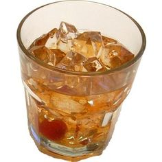 Old Fashioned Glass - FAKE DRINK - Decorcentral.com - Flora-cal Products - DecorCentral.com DBA-Flora-Cal