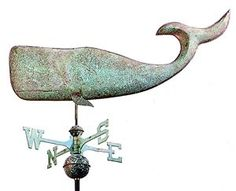 Copper Whale Weathervane (Large)