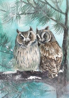 3 Owls on Branch Juliana Country Living Hand Painted Metal Outdoor Ornament
