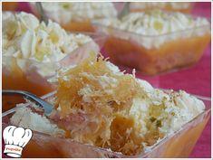 ΞΕΜΑΛΛΙΑΣΜΕΝΟ ΓΛΥΚΟ ΨΥΓΕΙΟΥ ΜΕ ΚΡΕΜΑ ΛΕΜΟΝΙ!!! - Νόστιμες συνταγές της Γωγώς! Greek Recipes, Potato Salad, Caramel, Deserts, Sweets, Stuffed Peppers, Ethnic Recipes, Party, Food