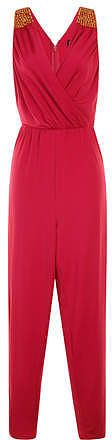 Womens raspberry jumpsuit from Dorothy Perkins - £18 at ClothingByColour.com
