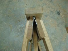 Folding Sawhorses - from end Almost to nice to use