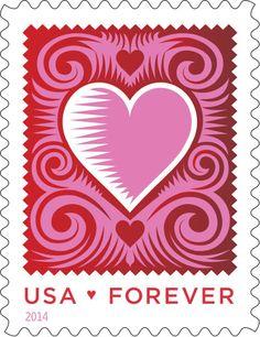 U.S. Postal Service unveils 2014 Love Stamp