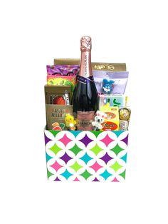 Girls pink easter gift basket easter gift baskets lindt champagne easter basket negle Choice Image