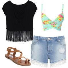 Untitled #412 by evanmonster on Polyvore featuring polyvore fashion style Miss Selfridge Steve Madden