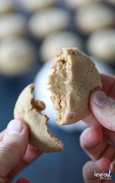 The Ultimate Peanut Butter Lover's Peanut Butter Cookies - peanut butter cookies stuffed with more peanut butter. #FallCookieWeek